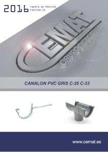 caratula canalon pvc c25 c33