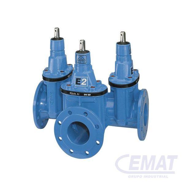 E2 COMBI-III con brida - sin conexión vertical