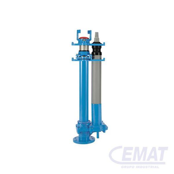 Hidrante subterráneo de paso libre ajustable en altura con conexión a brida