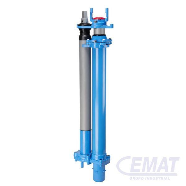 Hidrante subterráneo de paso libre ajustable en altura con cuello BAIO