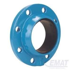 Brida especial de doble cámara para tubos de fundición