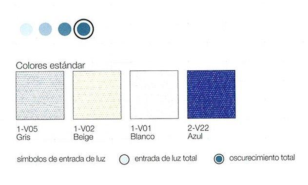 colores cortina oscurecimiento total