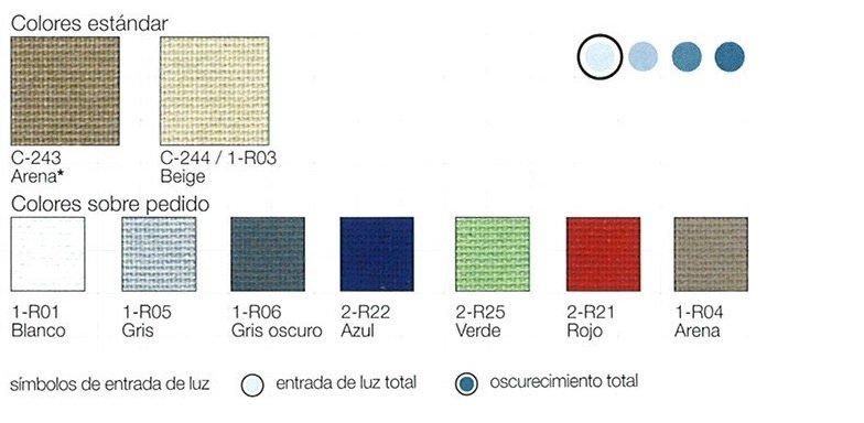 colores cortina resorte