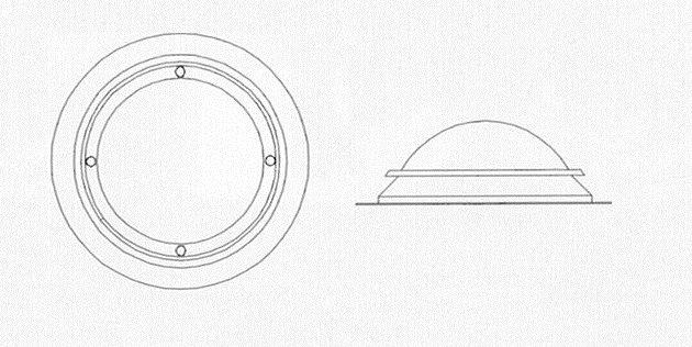 croquis claraboya circular