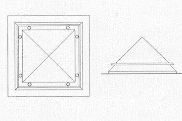 croquis claraboya piramidal