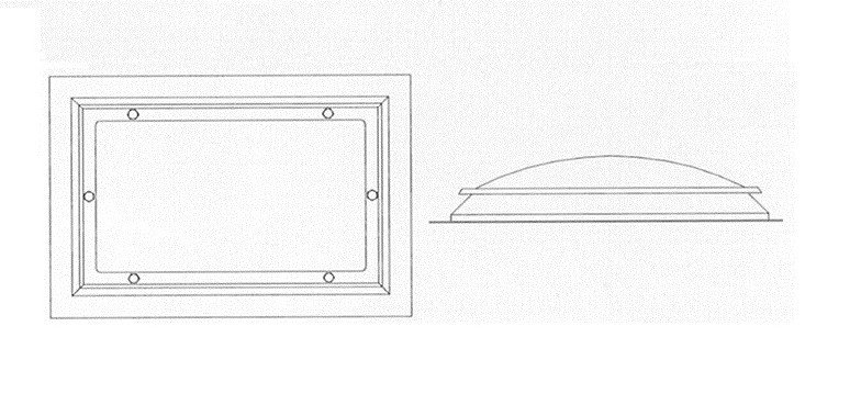 croquis claraboyas rectangulares
