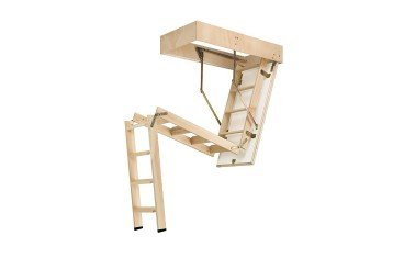 escalera escamoteable de madera cadet 3 iso