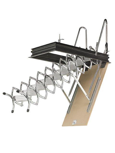 escalera escamoteable tijera zx techo abierta