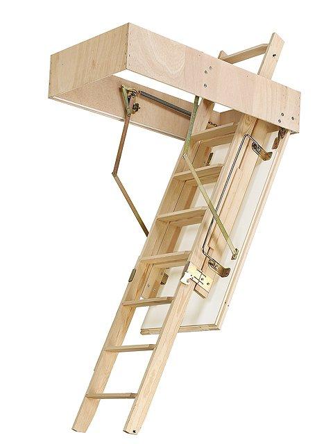 Escalera escamoteable madera cadet 2 iso cemat gijon - Escaleras escamoteables baratas ...