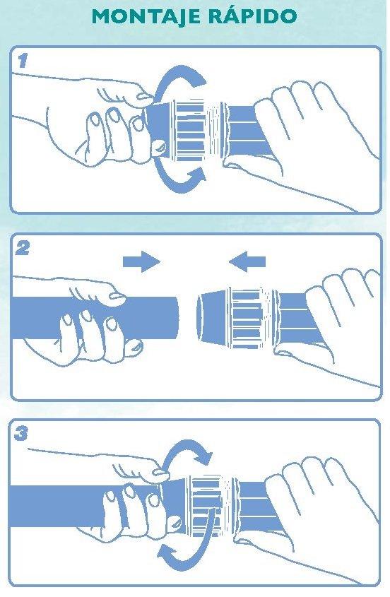 montaje rapido accesorio pp compresion