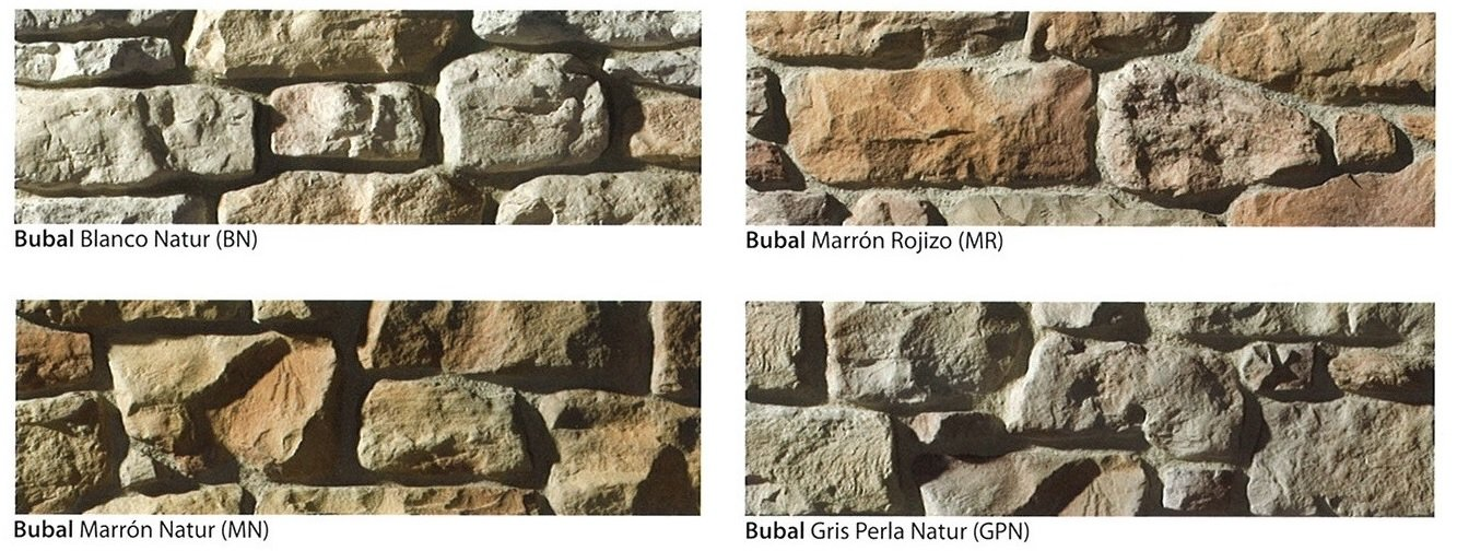 modelos piedra cultivada bubal