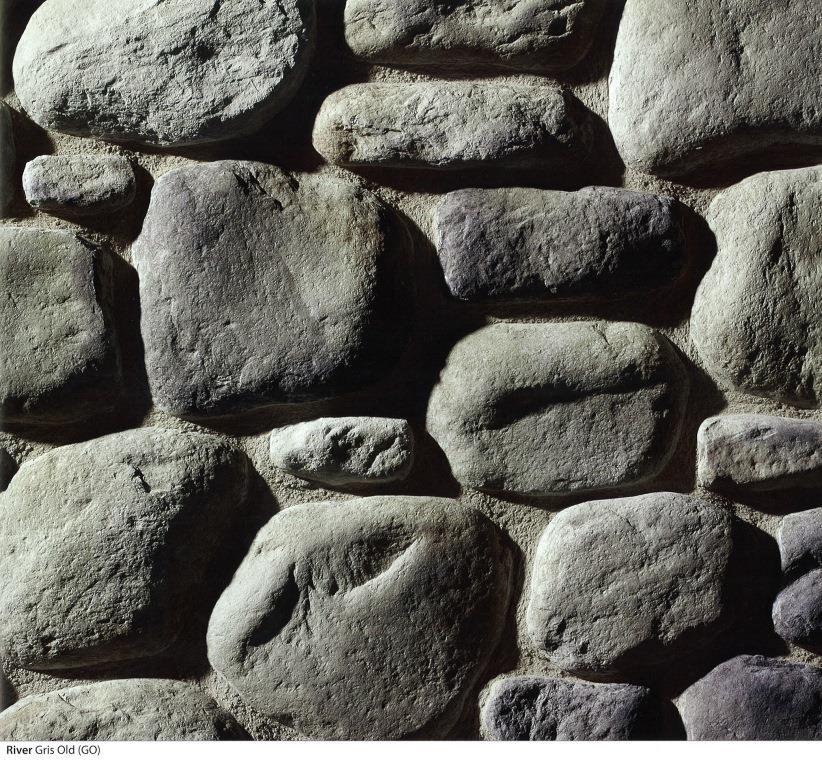 piedra cultivada river gris old