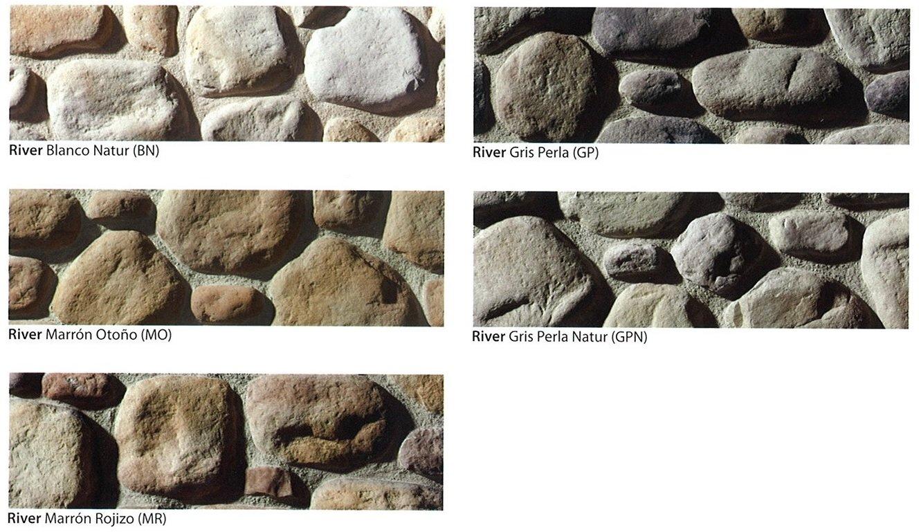 modelos piedra cultivada river