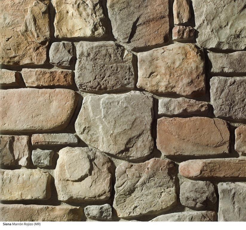 piedra cultivada siena marron rojizo