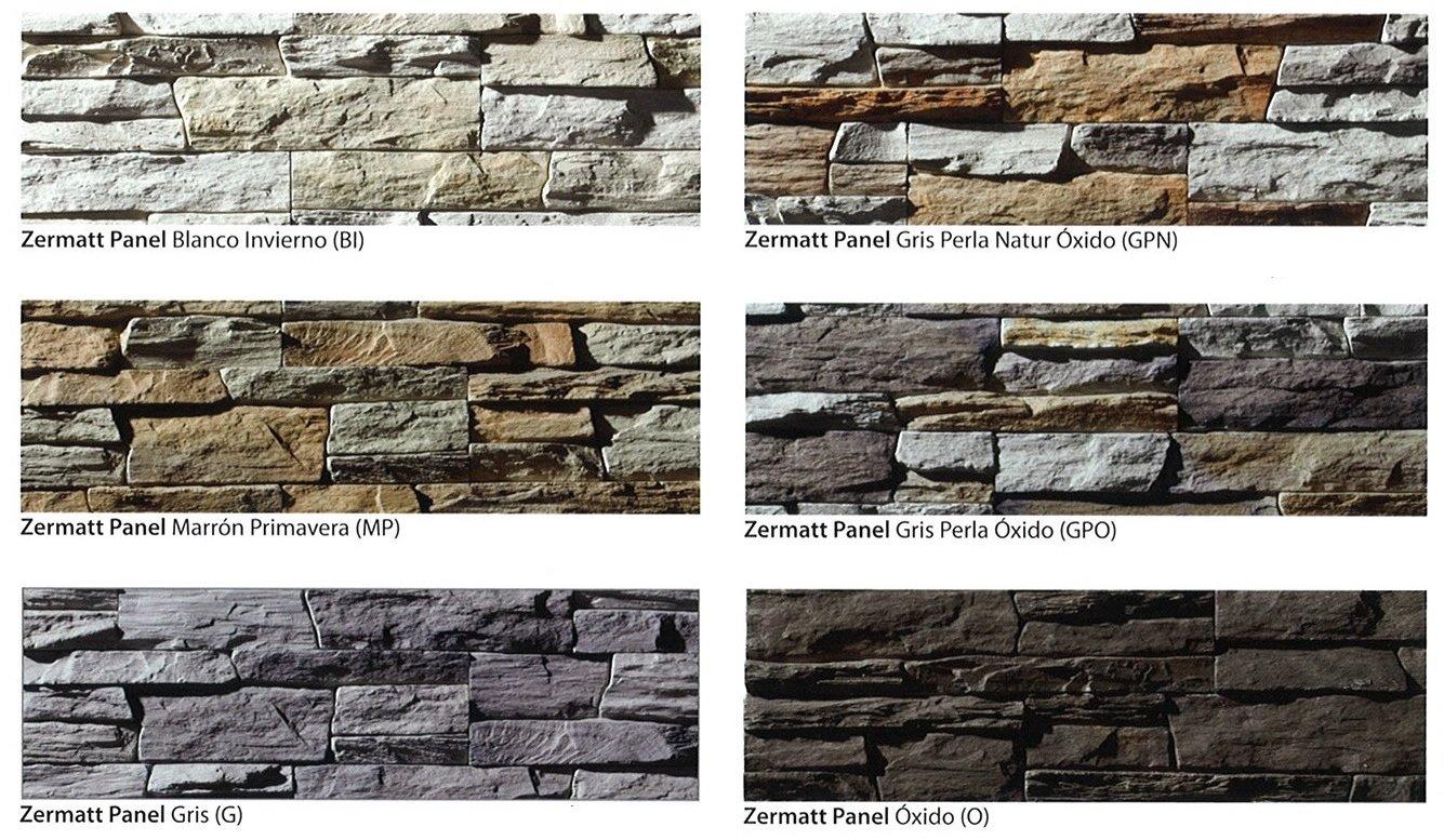modelos piedra cultivada zermatt panel