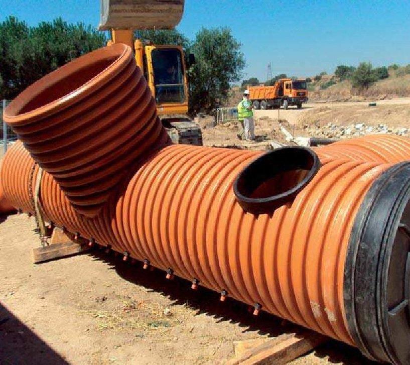 tubo pvc corrugado sn8 saneamiento teja cemat gijon asturias