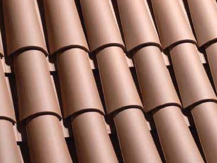 teja ceramica curva collado marron