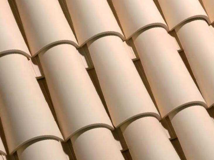 teja ceramica curva collado paja