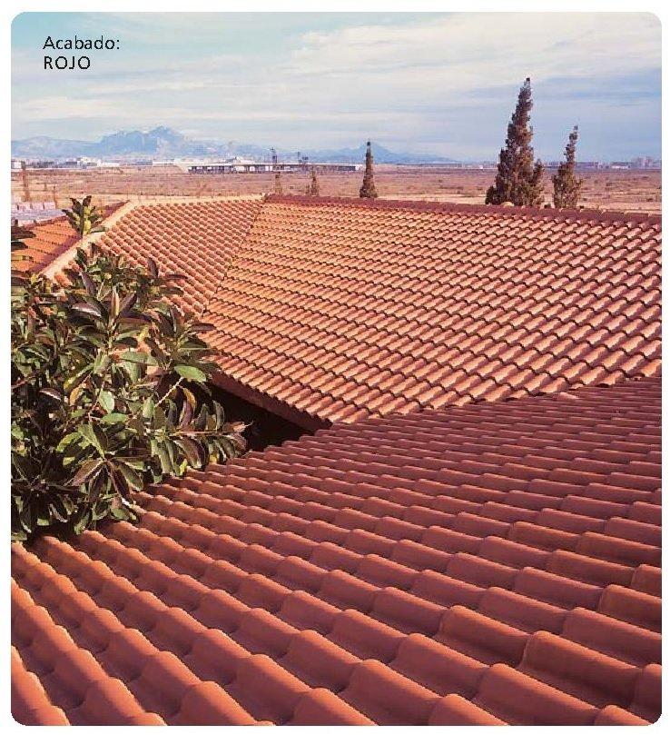 tejado con teja ceramica klinker meridional rojo