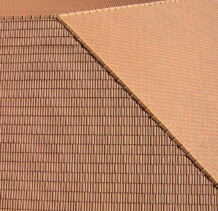 tejado con teja ceramica logica marsella mate rojo