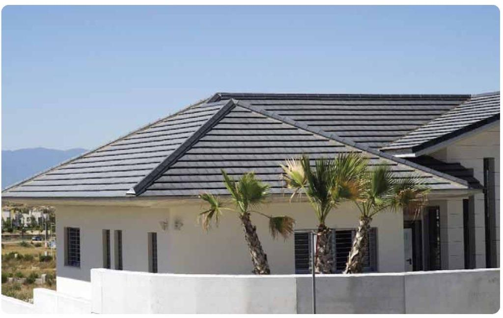 tejado con teja ceramica logica plana ebano