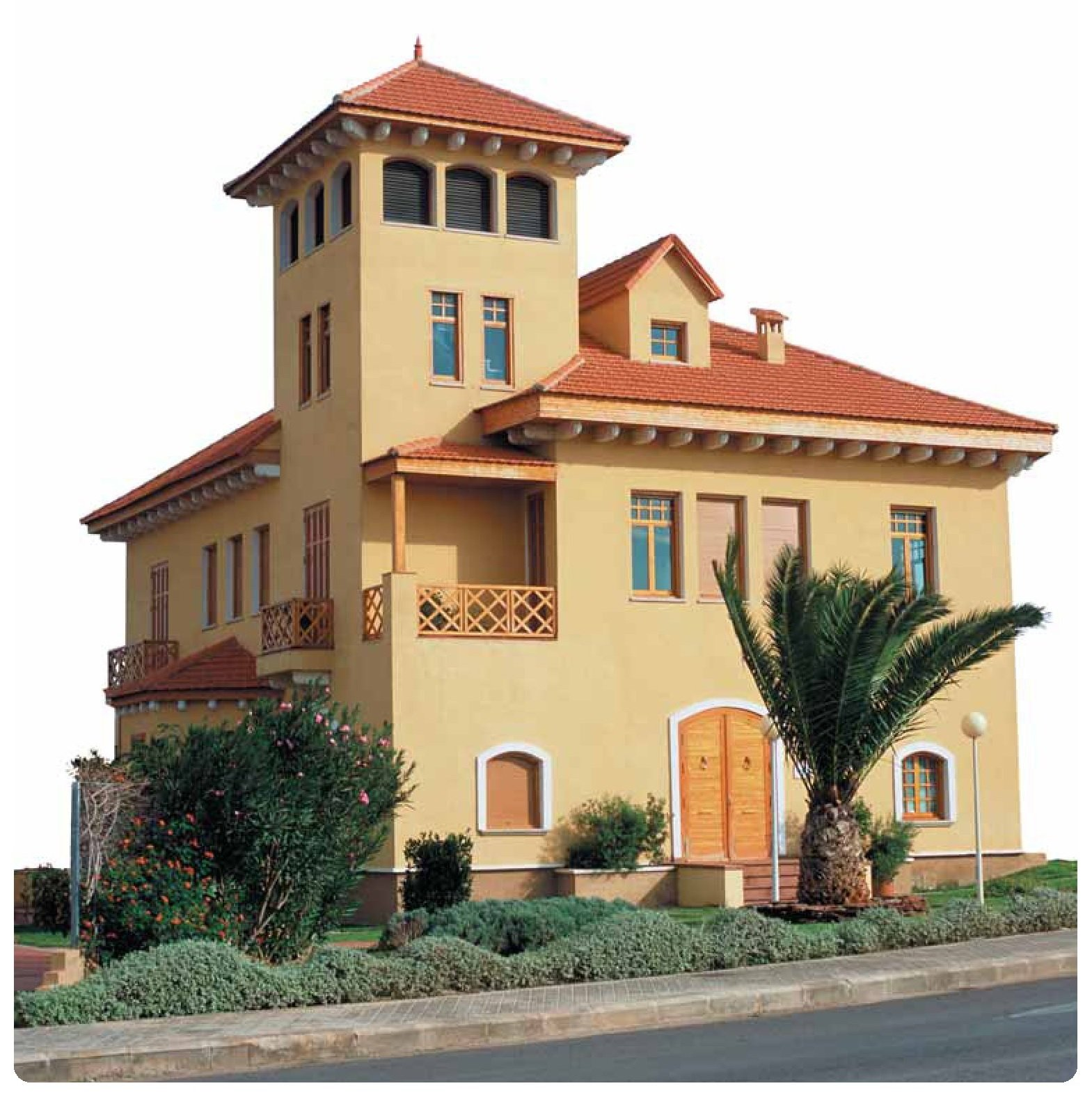tejado con teja ceramica mixta alicantina rojo