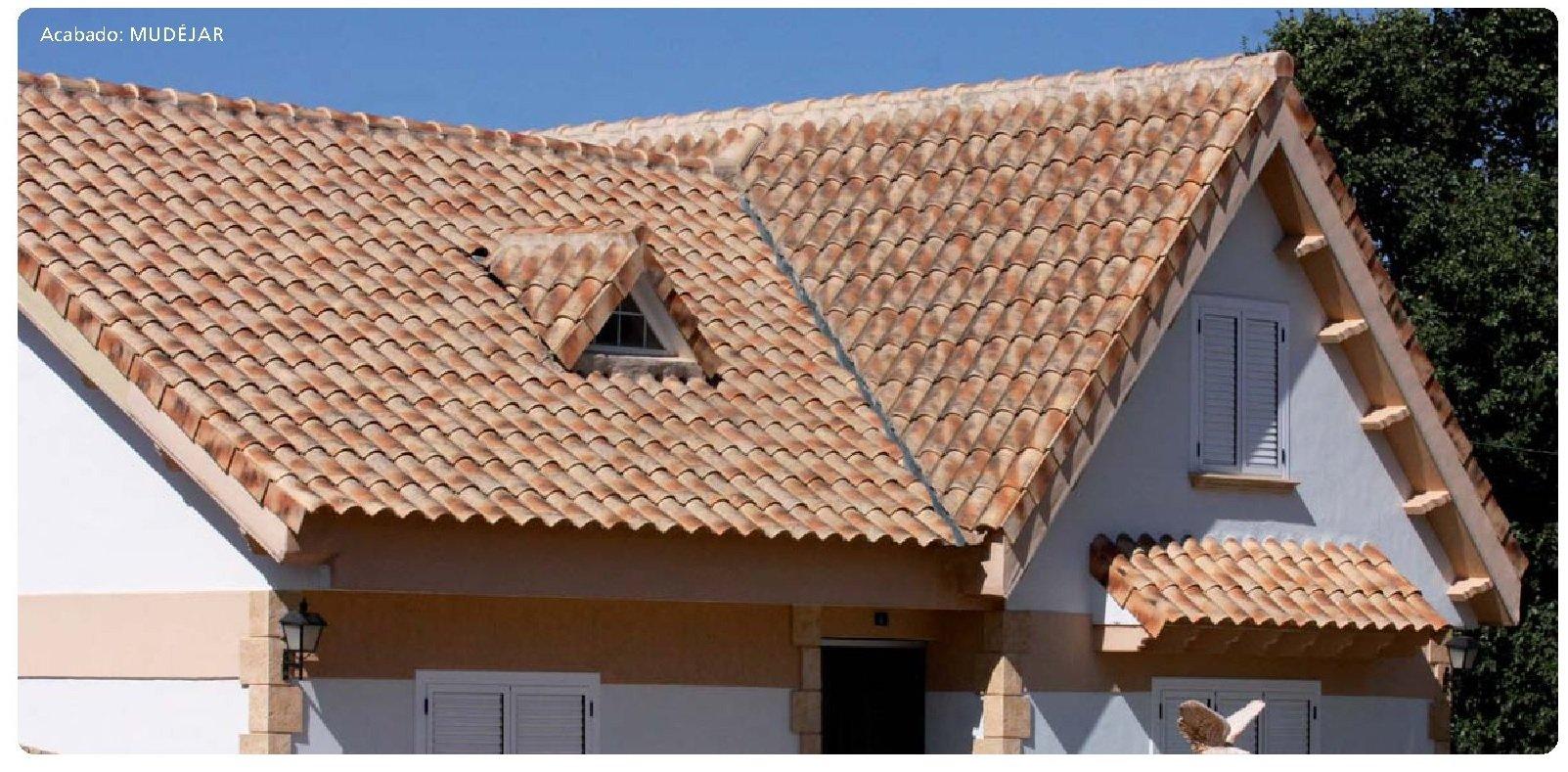 tejado con teja ceramica mixta collado 10 mudejar