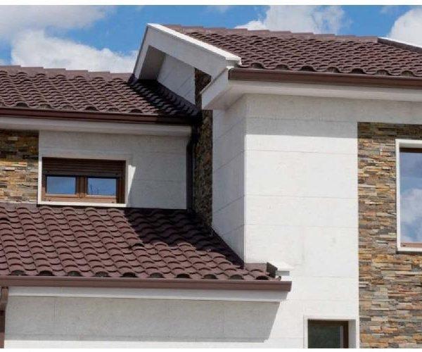 tejado con teja h-compact marron