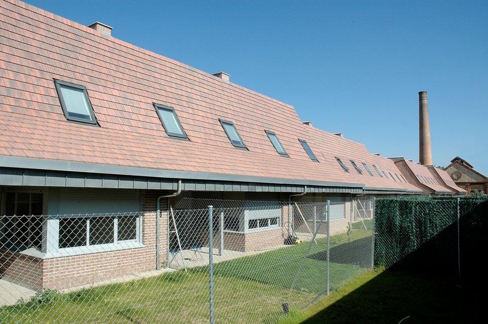 tejado con teja hormigon plana