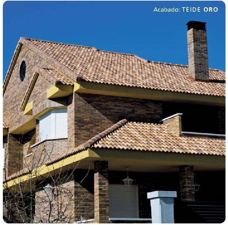 tejado con teja hormigon teide oro