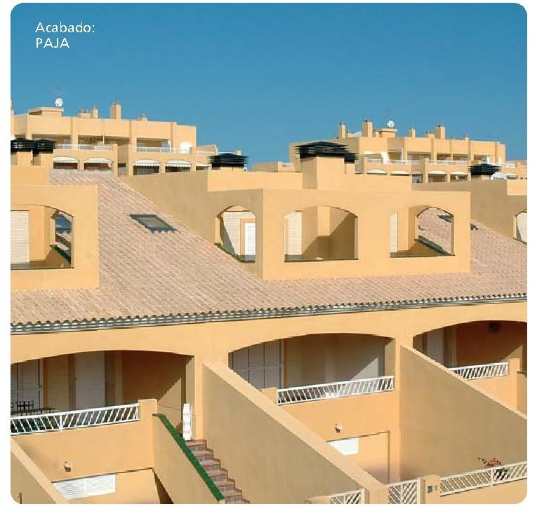 tejado con teja meridional paja