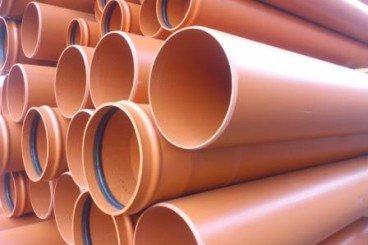 tubo pvc compacto teja sn4