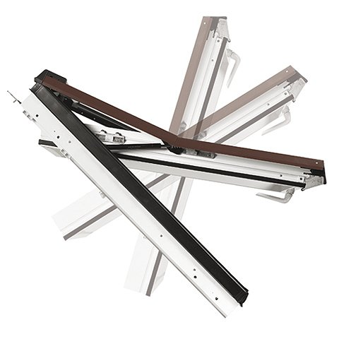 ventana tejado serie 735 pvc proyectante