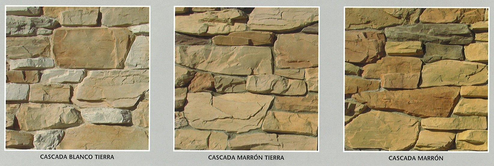 piedra cultivada cascada modelos