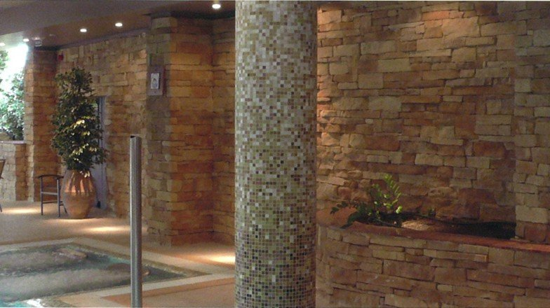Piedra decorativa interior deco frontal de la pared con for Piedra decorativa interior