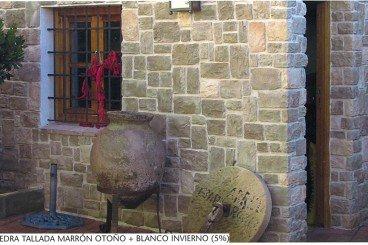 piedra cultivada tallada marron otoño+blanco