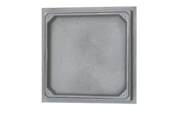 tapa estanca aluminio rellenable