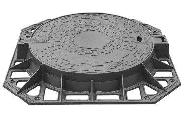 tapa fundicion redonda base cuadrada
