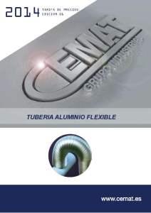 caratula tuberia aluminio flexible