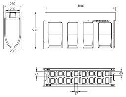seccion canal monoblock