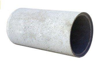 tubo hormigon enchufe media madera