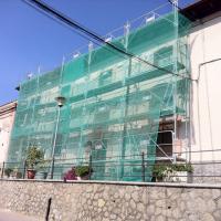 malla protección de andamios instalacion