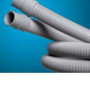Manguera descarga lavadoras Categorías: Mangueras , Mangueras para piscina y hogar Tubo de PP con terminales de conexión en goma termoplástica en los extremos
