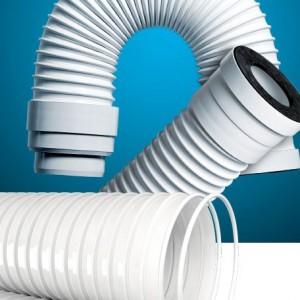 Tubería fabricada en PVC flexible con espiral rígida prácticamente indeformable y antichoque