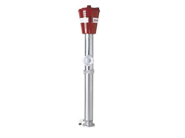 hidrante anticorrosion con linea de rotura provocada y cubierta protectora