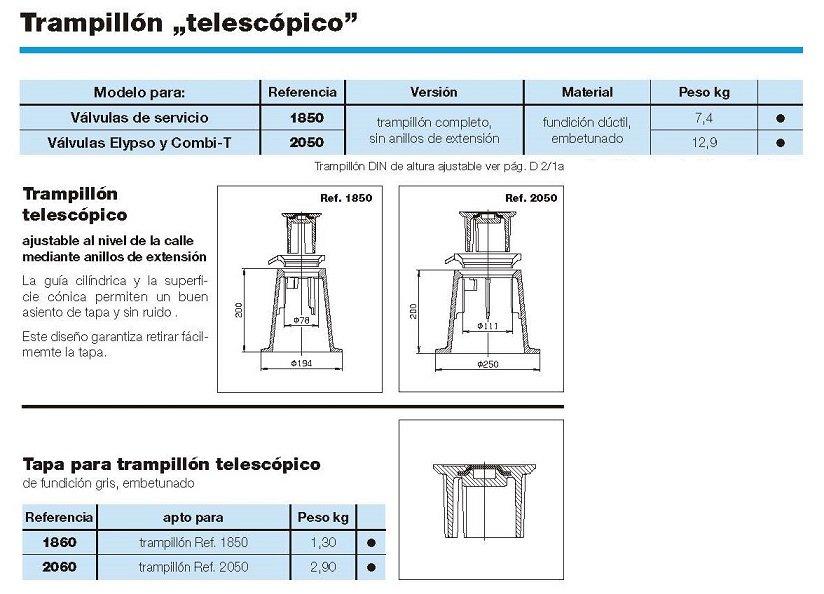 trampillon telescopico croquis