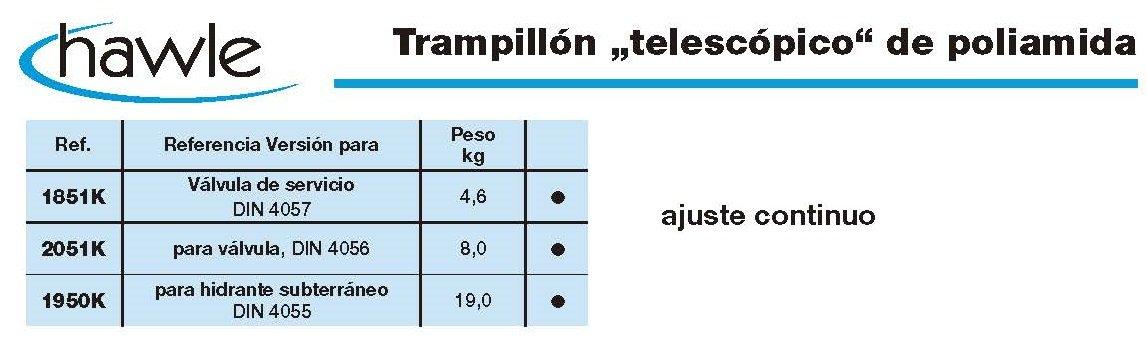 trampillon telescopico de poliamida croquis