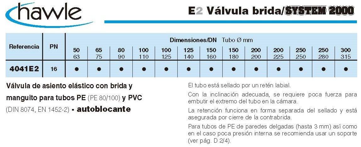 valvula brida system 2000 croquis