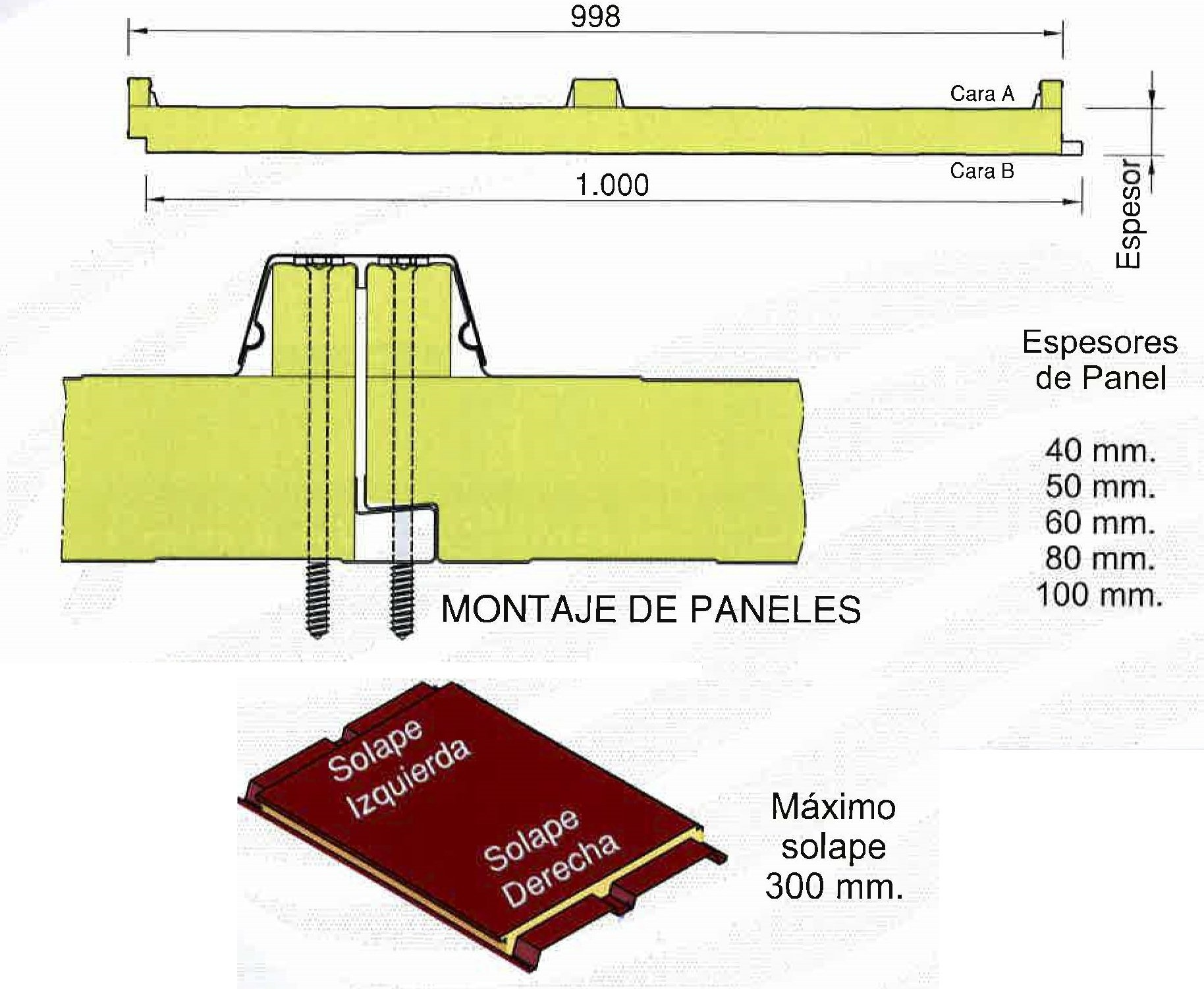 montaje-panel-aislante-cubierta-lana-de-roca