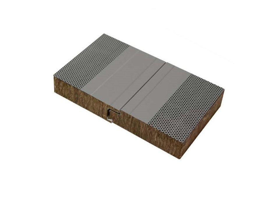 panel chapa sandwich fachada lana de roca fonoabsorvente